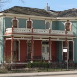 Carson house on south side of Main Street. The building was constructed in 1860